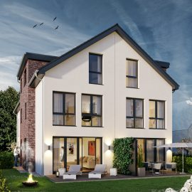Baubeginn: Anfang September 2019 – Architekten-Neubau-Stadthäuser mit Grundstücksanteil