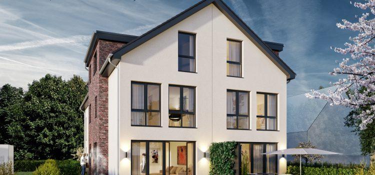 Baubeginn erfolgt – Architekten-Neubau-Stadthäuser mit Grundstücksanteil