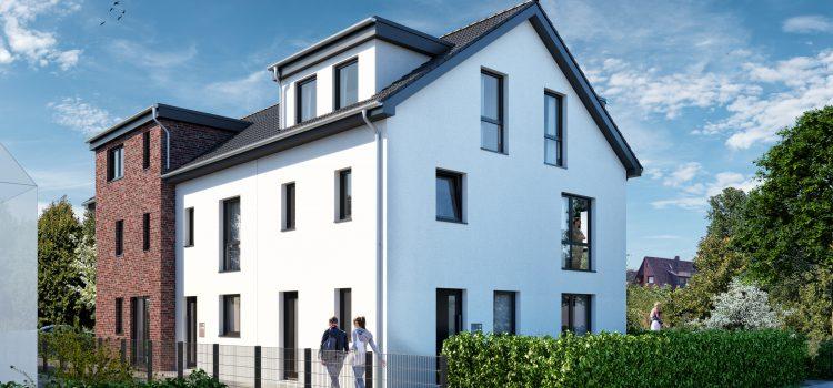 VERKAUFT – Architekten-Neubau-Stadthäuser mit Grundstücksanteil